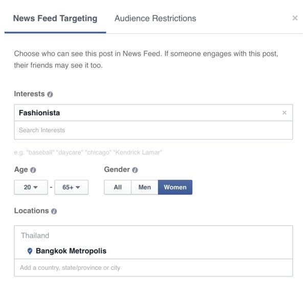 News Feed Targeting