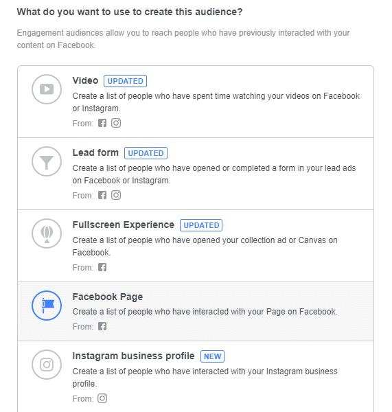 Facebook Engagement Custom Audience