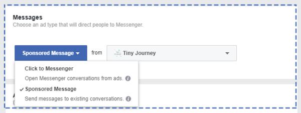 Sponsored Message Ads