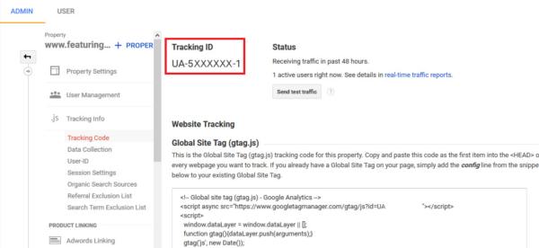 Google Analytics Tracking ID