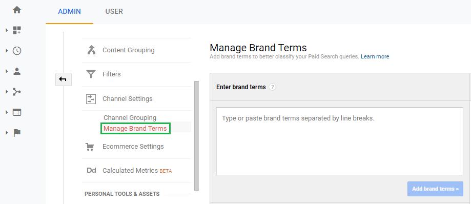 วิธีสร้างManage Brand Terms Step 01